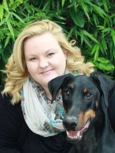 Daniela Fiutak mit Booker, einem ihrer Hunde